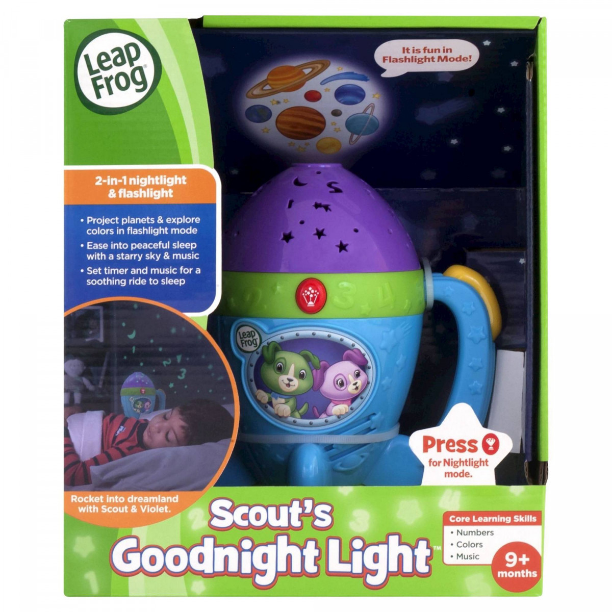 leapfrog scouts goodnight light. Black Bedroom Furniture Sets. Home Design Ideas