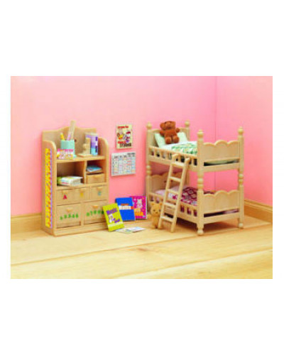 Sylvanian families childrens bedroom furniture for Sylvanian classic furniture set