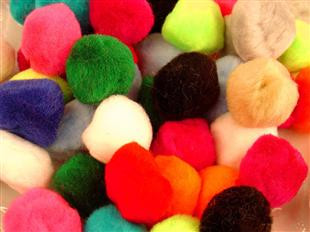 Pom Poms 38mm Assorted 50 Per Bag