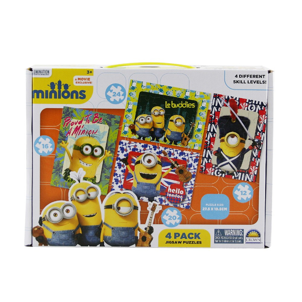 Minions 4 Puzzles in Carry Box
