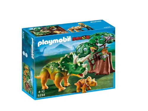 Playmobil Dinos Explorer and Triceratops with Baby