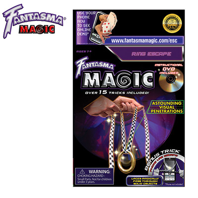 Theatrix Fantasma Linking Ring on String with DVD