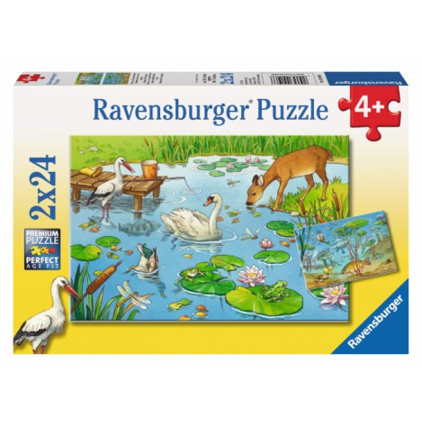 Ravensburger Above and Below the Pond 2x24pc