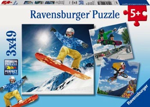 Ravensburger Action Sport Puzzle 3x49pc