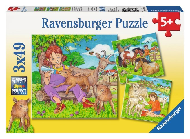 Ravensburger My Favourite Animals 3x49pc