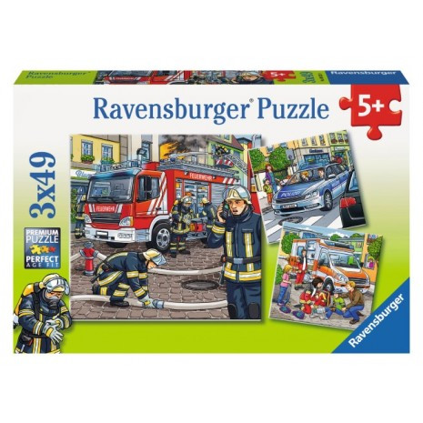 Ravensburger Helpers in Need Puzzle 3x49pc