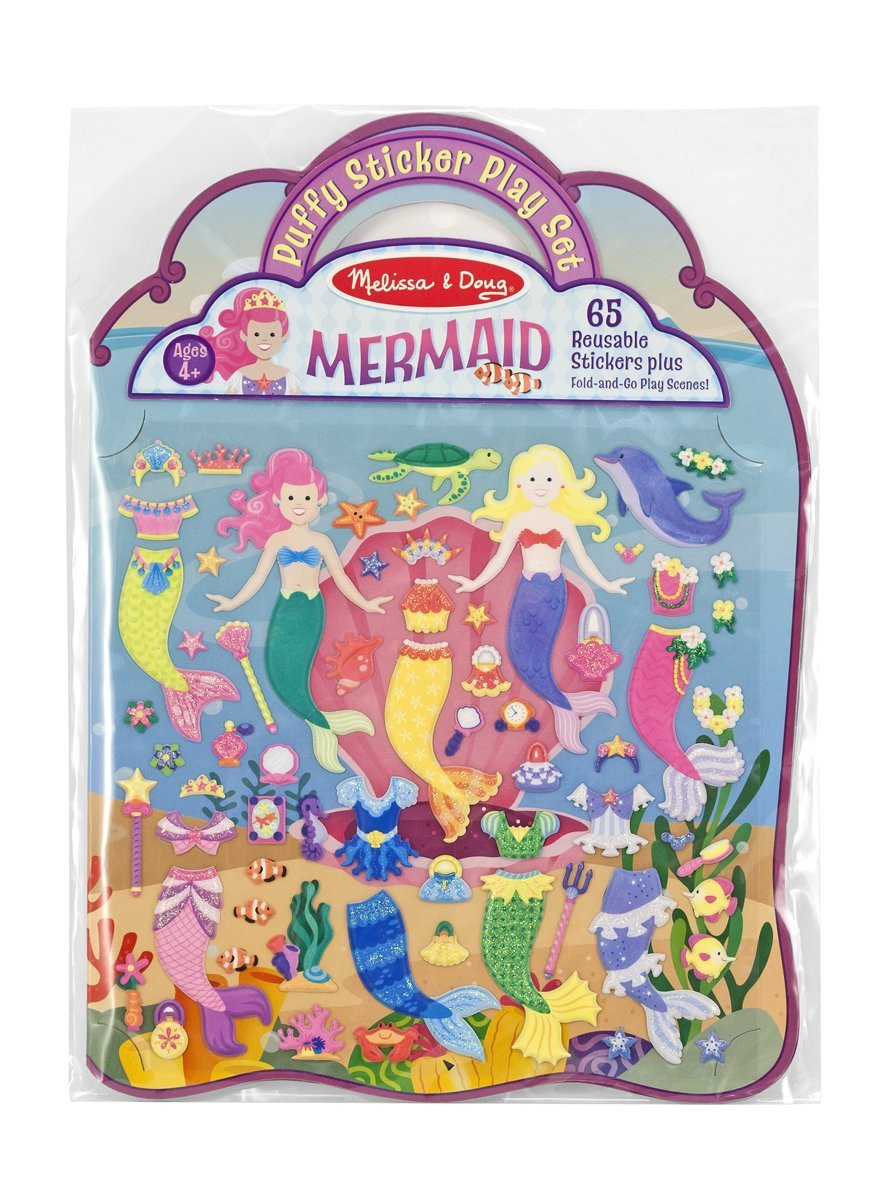 Melissa & Doug - Reusable Puffy Sticker Play Set - Mermaid