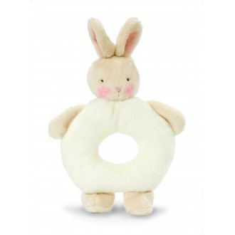 Ring Rattle White Bunny