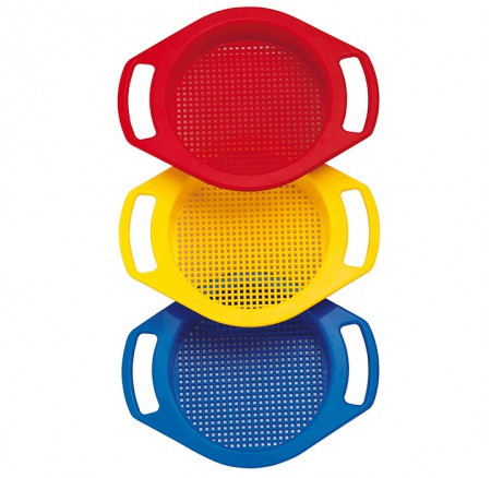 Dantoy Single Sieve with Handles Assorted Colours.