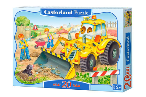 Castorland Bulldozer in Action Maxi Puzzle 20pc