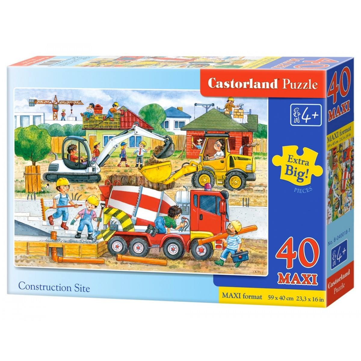 Castorland Construction Site Maxi Puzzle 40pc