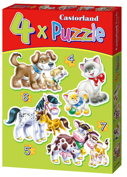 Castorland Animals with Babies (4 puzzles)