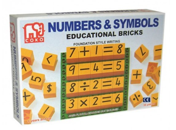 COKO Numbers & Symbols 36pc