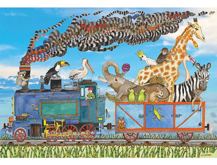 Jenny Laidlaw Train Ride Puzzle 100pc