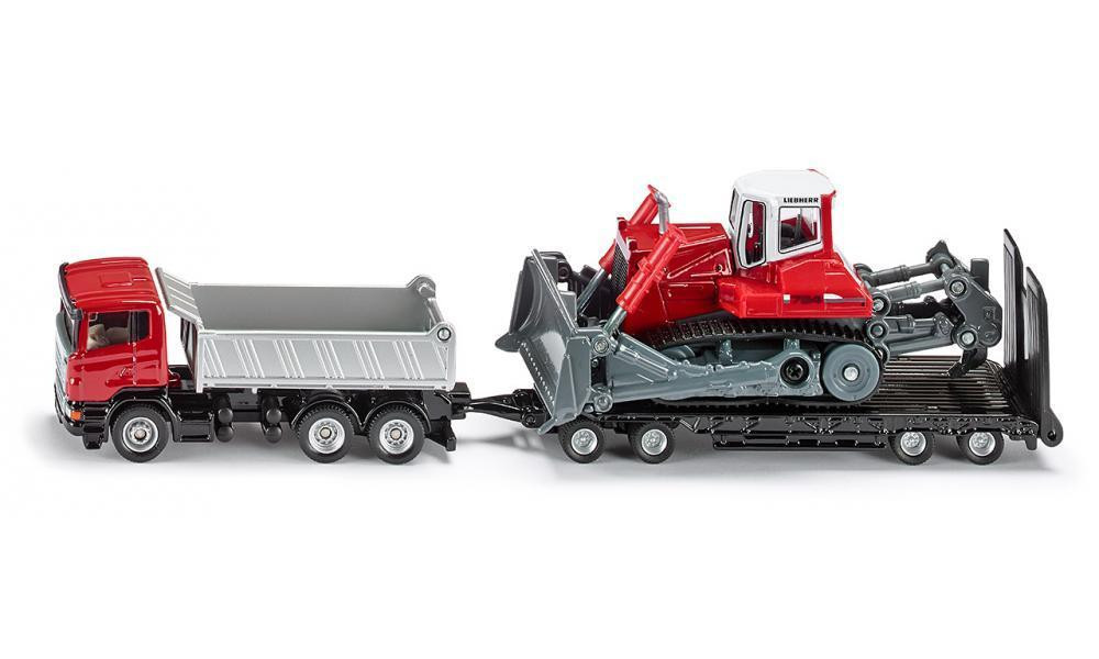 Siku Truck with Trailer & Compact Excavator 1:87