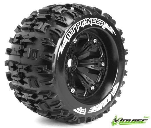 Louise RC MT-Pioneer 1/8 Monster Truck Tyre Black