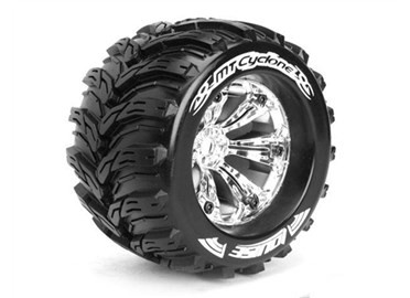 Louise RC MT-Cyclone 1/8 Monster Truck Tyres Chrom