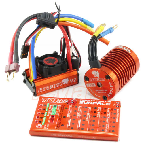 SkyRC Leopard 60amp 9T 4370kv & Program Card