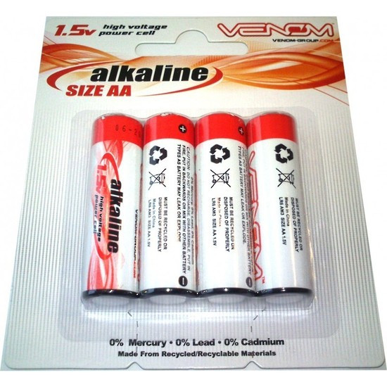 AA Alkaline Batteries 4pcs