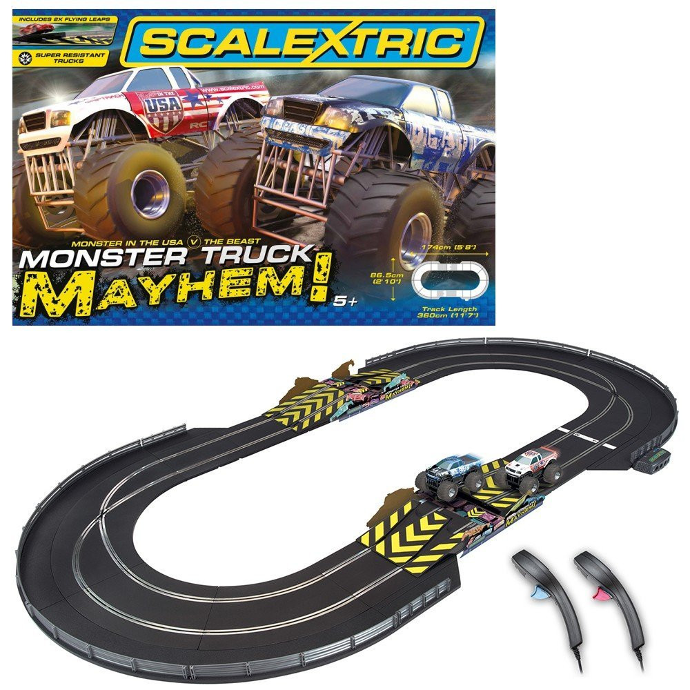 Scalextric Monster Truck Mayhem Slot Car Set