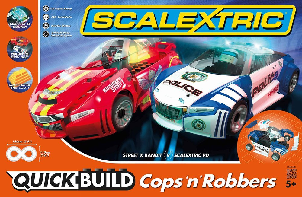 Scalextric Cops N Robbers Quick Build Slot Car Set