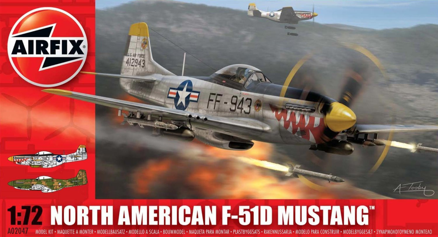 Airfix North American P-51f Mustang 1:72