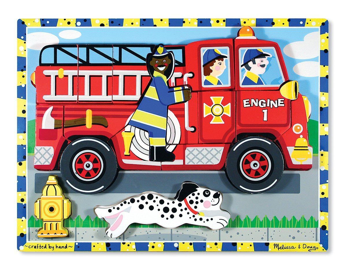 M&D - Fire Truck Chunky Puzzle