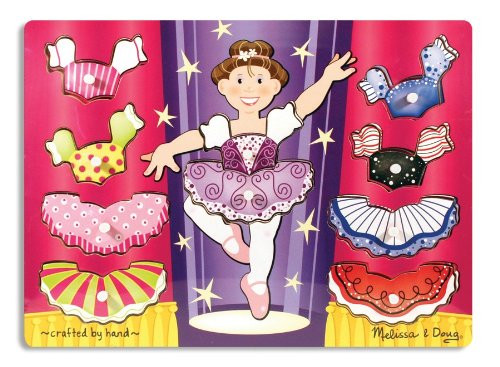M&D - Ballerina Dress-Up Peg Puzzle