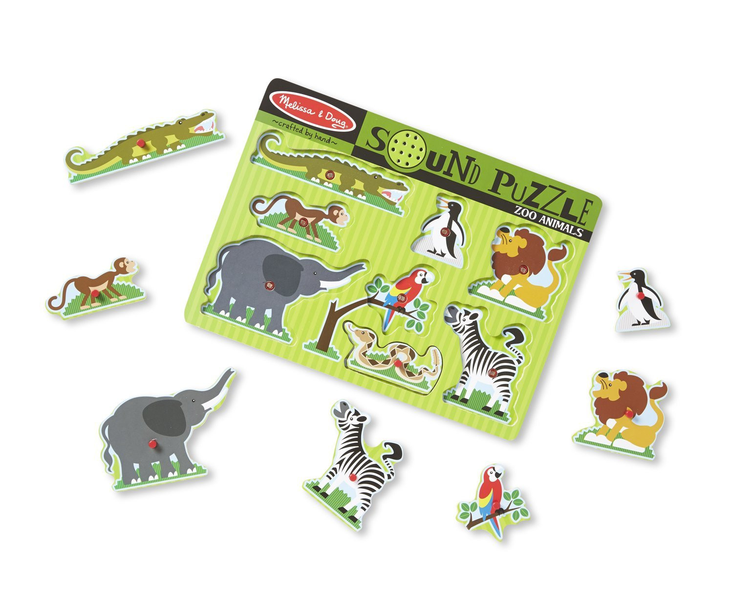 M&D - Zoo Animals Sound Puzzle - 8pc
