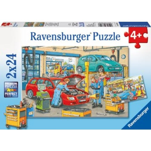 Ravensburger - At the Service Station Puzzle 2x24pc