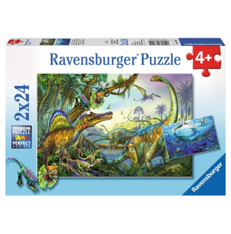 Ravensburger - Primeval Giants Puzzle 2x24pc