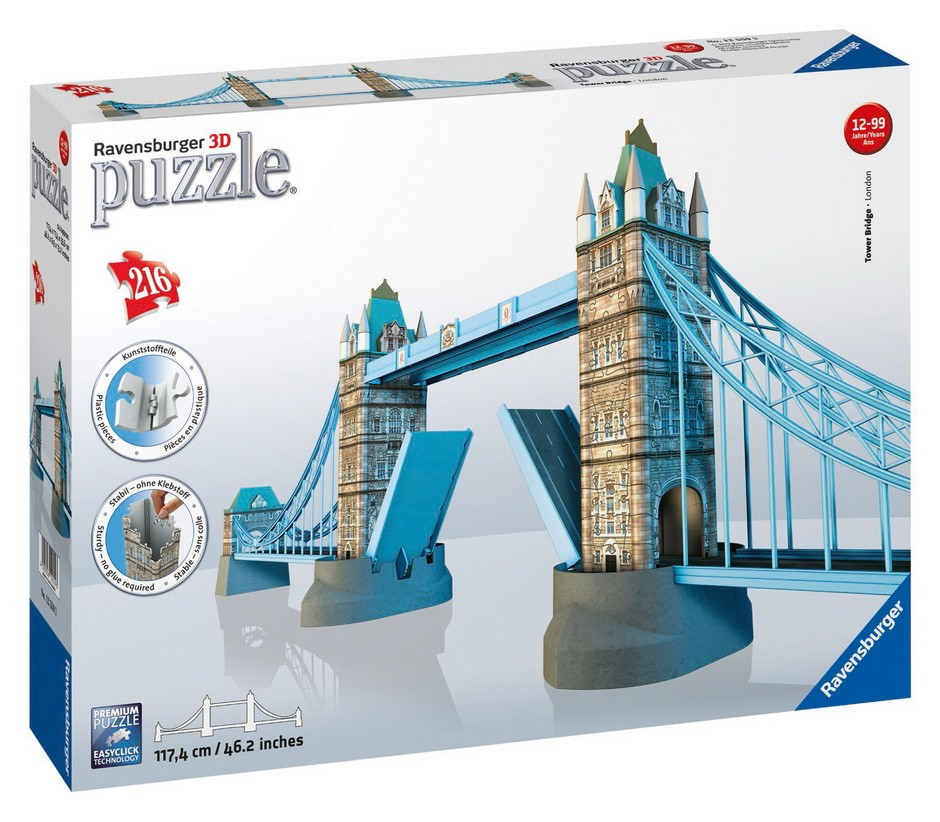 Ravensburg - Tower Bridge 3D Puzzle 216pc