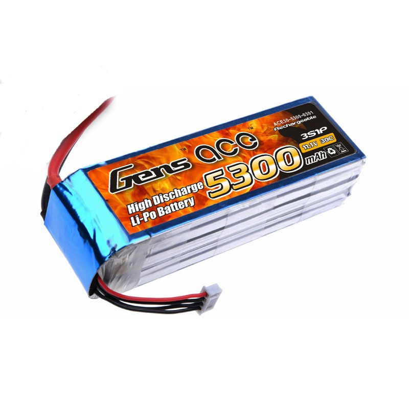Gens Ace 5300mAh 30C 11.1V Soft Case LiPo (was ACE-5300330)