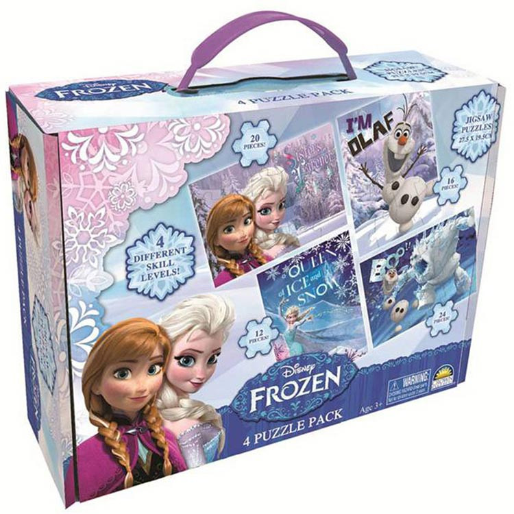 Disney Frozen 4 Puzzle Carry Box
