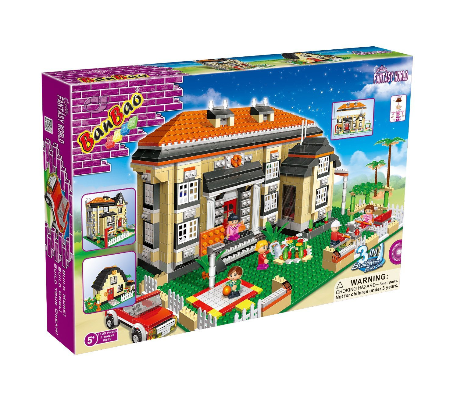 Banbao Dream House 1100pcs 3 in 1