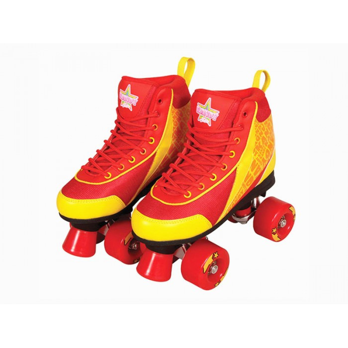 Kandy Skates Red Boot with Red Wheels Size 5