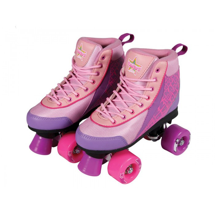 Kandy Skates Pink Boot with Pink Wheels Size 2
