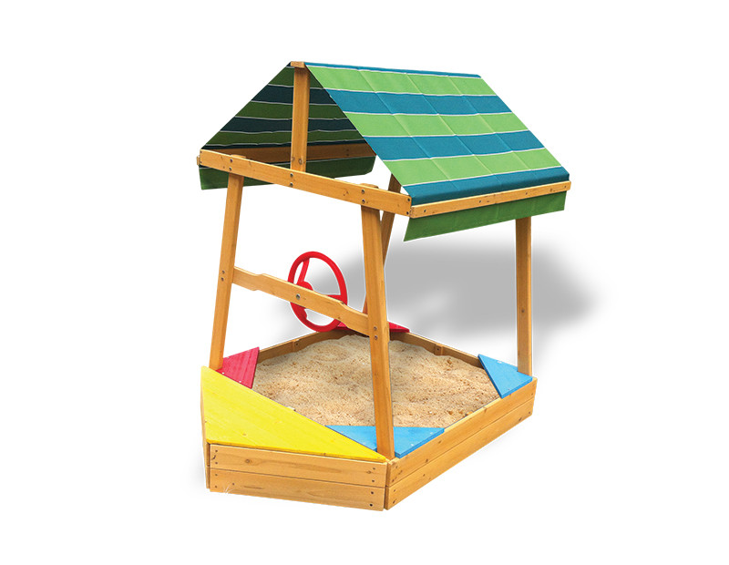 Lifespan Kids Explorer Boat Sandpit with Canopy