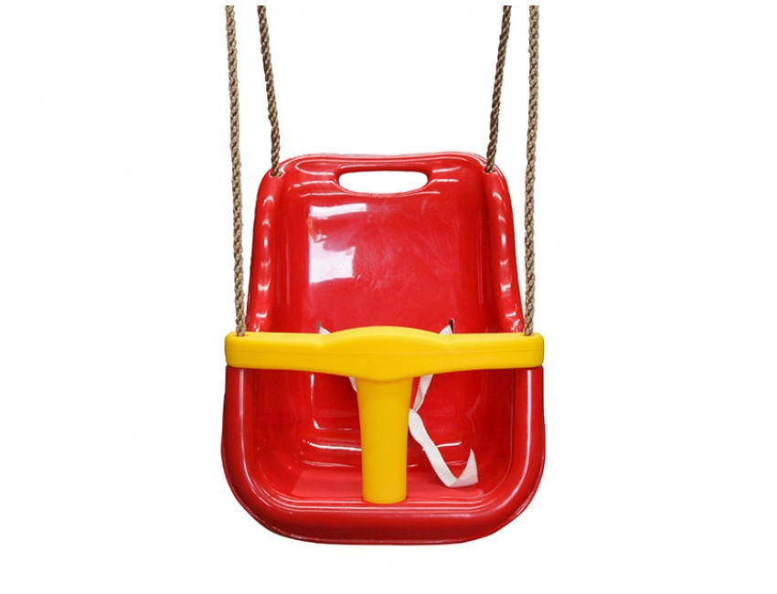 Lifespan Kids Baby Swing Seat with Rope Extensions Red & Yellow
