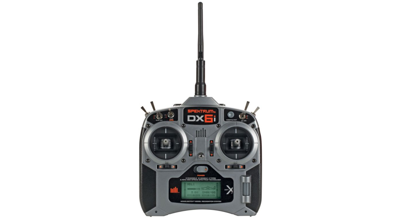 Spektrum DX6i Transmitter with AR610 Receiver Mode 2