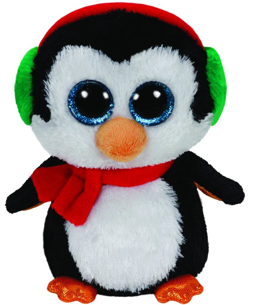 Beanie Boos Medium Xmas North Penguin