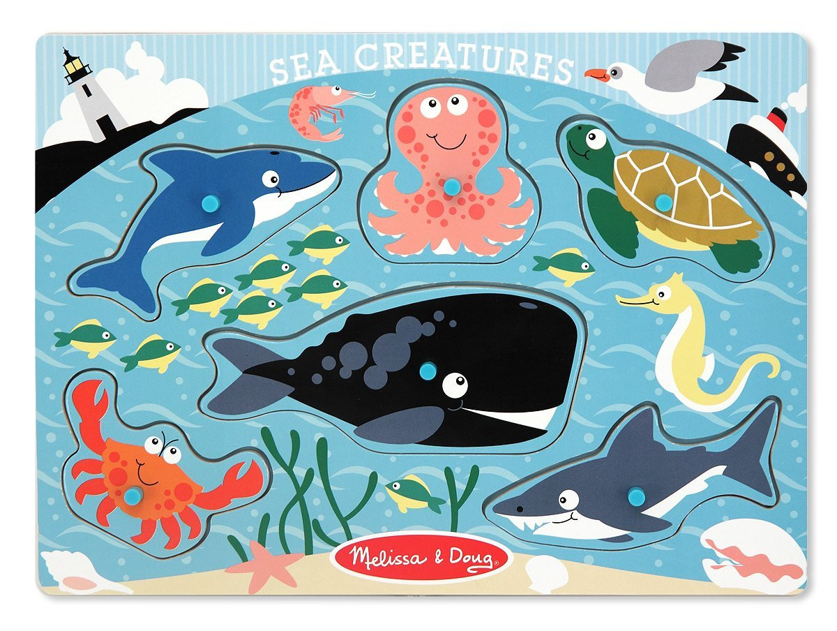 M&D - Sea Creatures Peg Puzzle