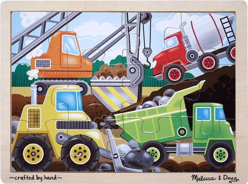 Melissa & Doug Construction Site Wooden Puzzle 12pc