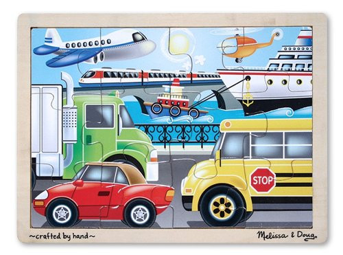 Melissa & Doug On the Go Vehicles Wooden Puzzle 12pc