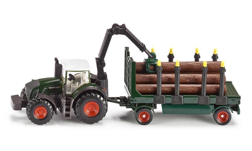 Siku Tractor with Forestry Trailer 1:87