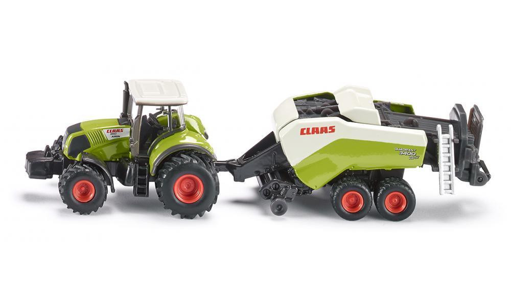 Siku Claas Axion with Big Baler 1:87