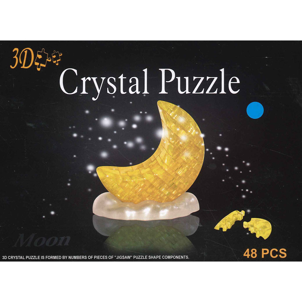 3D Moon Crystal Puzzle 48pc