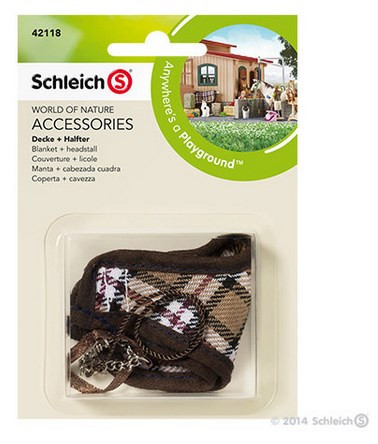 Schleich Blanket + Headstall Brown