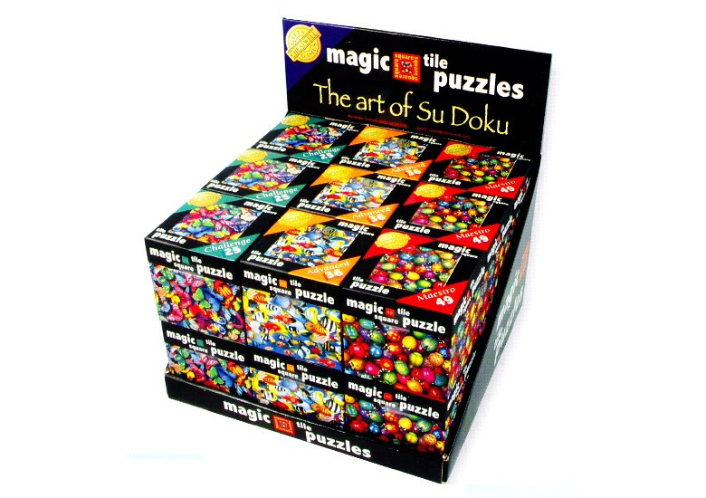 Cheatwell Games Magic Square Tile Puzzles Assortment