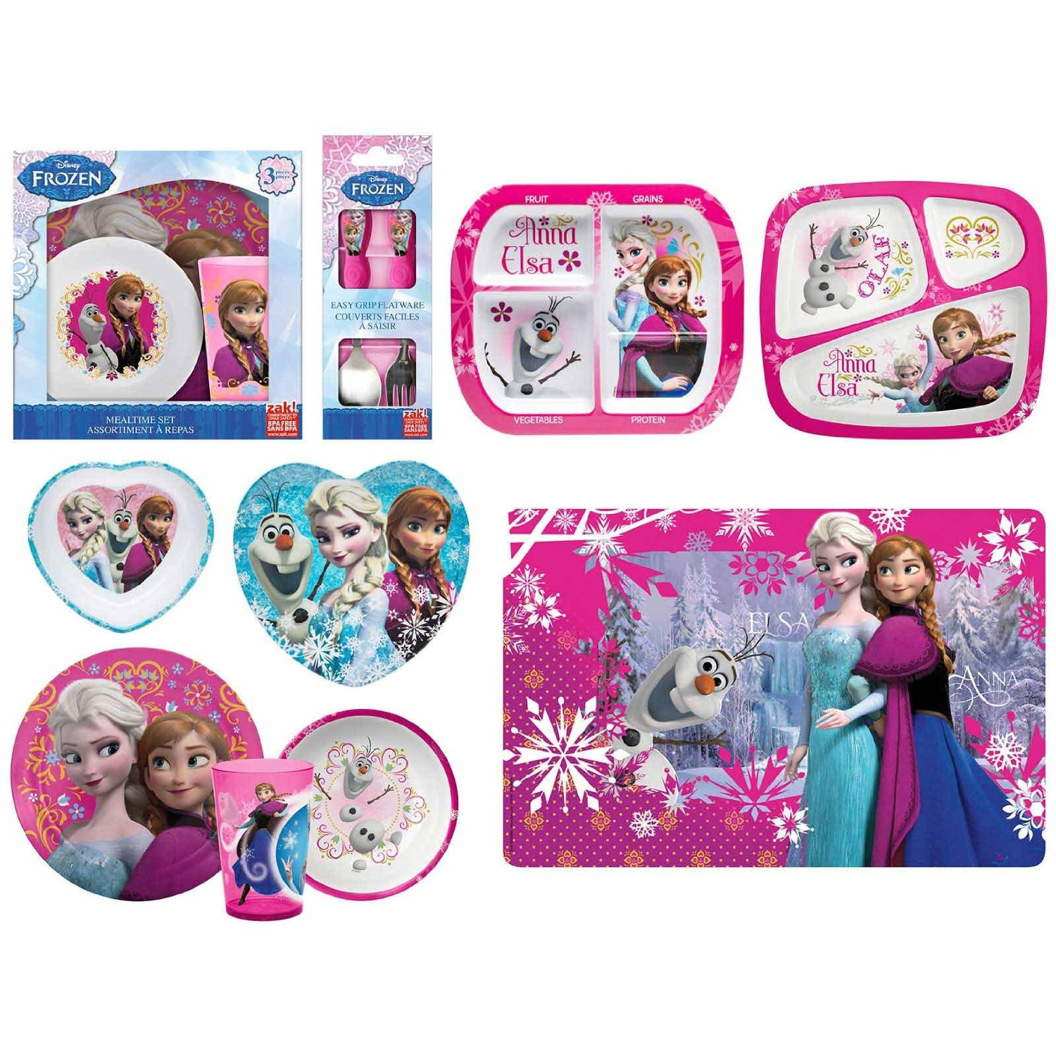 Disney Frozen 3 Piece Melamine Mealtime Set